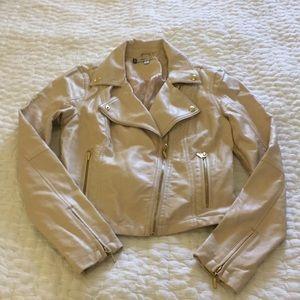 Jennifer Lopez Blush Pink Faux Leather Jacket